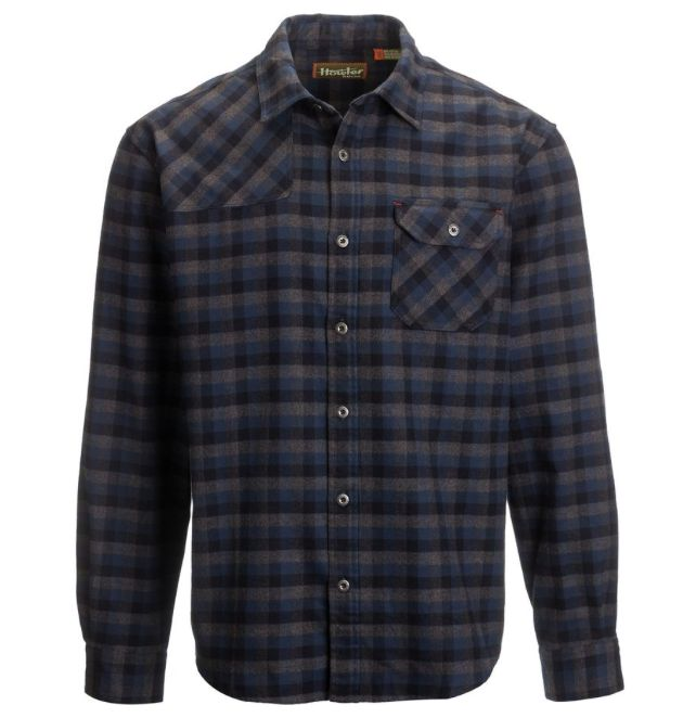Howler Brothers HARKER'S FLANNEL ALTURAS PLAID: DEEP BLUE