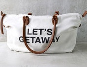 "BILLABONG BILLABONG BALI BLISS WEEKENDER TOTE ""LETS GETAWAY"""