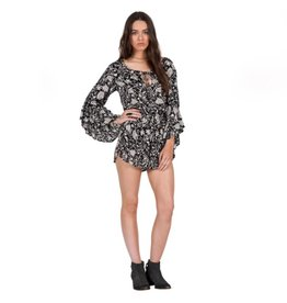VOLCOM ROADTRIP MIX ROMPER-BLACK