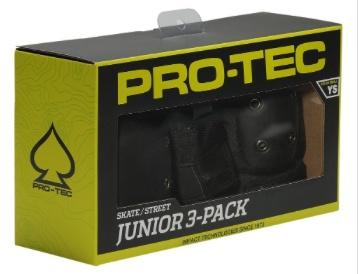 PRO-TEC PROTEC SKATE/STREET GEAR JR 3 PACK BLK YS