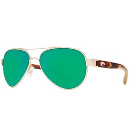 Costa Del Mar COSTA DEL MAR LORETO ROSE GOLD GREEN MIRROR 580P