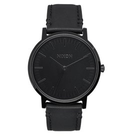 NIXON NIXON PORTER LEATHER ALL BLACK WATCH
