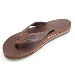 Rainbow Sandals CLASSIC MOCHA LEATHER DOUBLE LAYER ARCH