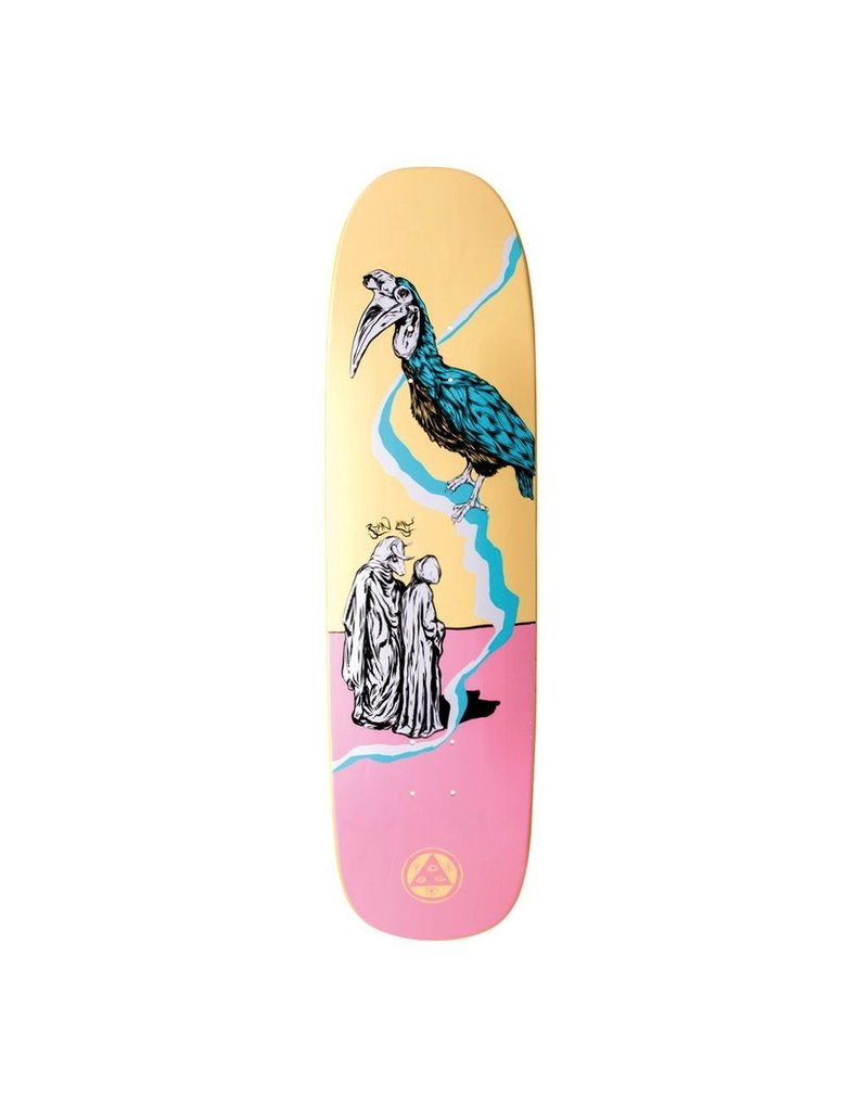 WELCOME SKATEBOARDS INFERNO ON STONECIPHER- CREAM WELCOME SKATEBOARDS DECK
