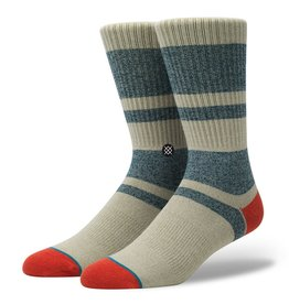 STANCE FIRST POINT RED CREW SOCKS LARGE