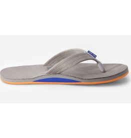HARI MARI MENS FIELDS LT GRAY / BLUE AND ORANGE SIZE TEN
