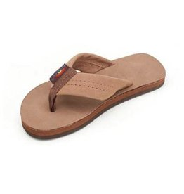 Rainbow Sandals PREMIER LEATHER DARK BROWN KIDS RAINBOW
