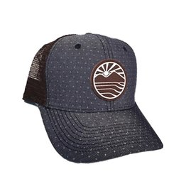 LIVINLIFEMAN LIVIN LIFE MAN STEP INTO SUNSHINE CURVED TRUCKER HAT TWILIGHT