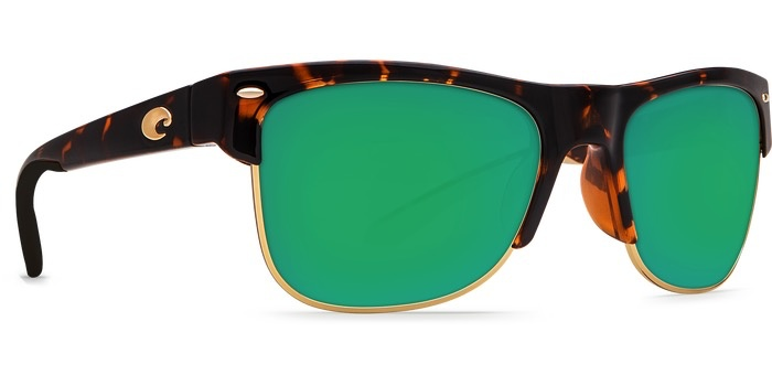 Costa Del Mar COSTA PAWLEYS RETRO TORTOISE GREEN MIRROR