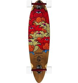 """MADRID Complete, Carving, Blunt 36"""" Bamboo, Seer, Paris 180mm Red/Red, Cruiser 70mm White, Special Cut Grip, Cadillac Bearings, 1/4"""" Risers"""