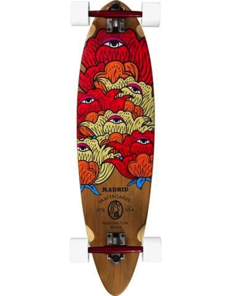 "MADRID Complete, Carving, Blunt 36"" Bamboo, Seer, Paris 180mm Red/Red, Cruiser 70mm White, Special Cut Grip, Cadillac Bearings, 1/4"" Risers"