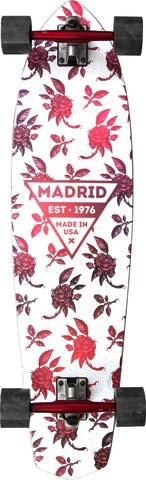 "MADRID Complete, Carving, Dude 36.75"", Rosa, Paris 180mm Red/Red, Cruiser 70mm Smoke, Madrid Diecut Grip, Cadillac Bearings, 1/8"" Risers"