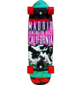 "MADRID Complete, Cruiser, Shrimp 30"", Layers, Invader 800, 59mm Red, Madrid Diecut Grip, Precision Steel Bearings, Wedge Risers"