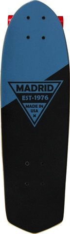 """MADRID Complete, Cruiser, Party 24"""", Blue Metallic Logo, Mini Truck, 59mm Red, Roll-On Clear Grip, Precision Steel Bearings, Wedge Risers"""