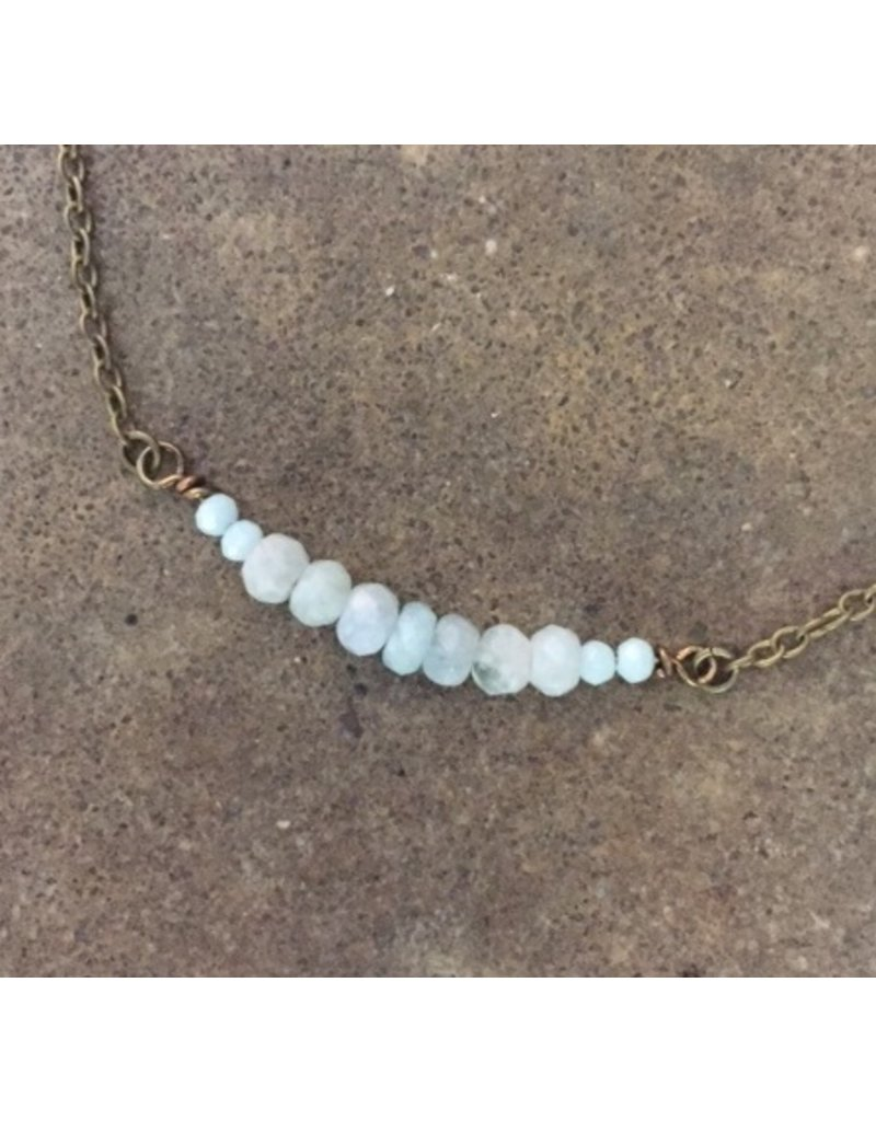 Mirage by KB MIRAGE NECKLACE WITH AQUAMARINE STONES
