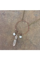 Mirage by KB MIRAGE PENDANT NECKLACE WITH COPPER, AQUAMARINE AND CRYSTAL