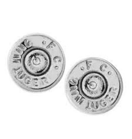 HALF UNITED Ali Bullet Top Stud Earrings - Silver