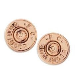 HALF UNITED Ali Bullet Top Stud Earrings-Rose Gold