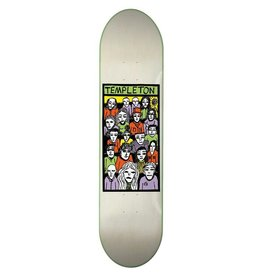 "TOY MACHINE Toy Machine Skateboards Ed Templeton Faces In The Crowd Skateboard Deck - 8.5"" x 32.125"""
