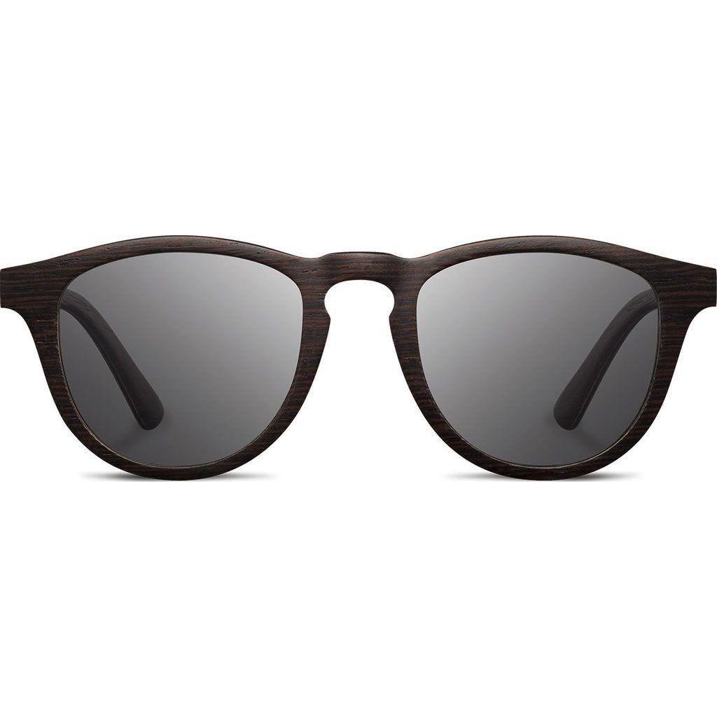 SHWOOD Francis Wood SunglassesDARK WALNUT / GREY POLARIZED