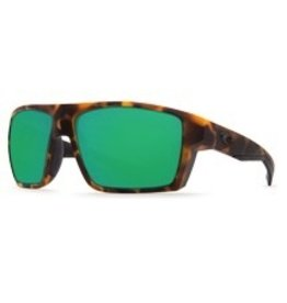 Costa Del Mar BLOKE MATTE RETRO TORT + MATTE BLACK GREEN MIRROR 580G