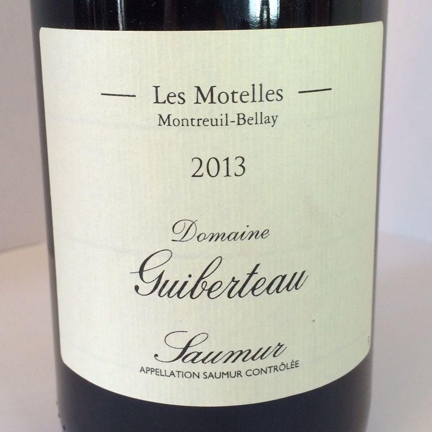 """2014 Guiberteau Saumur Rouge """"Les Motelles"""""""