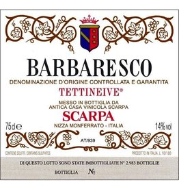 "1989 Scarpa Barbaresco ""Tettineive"""