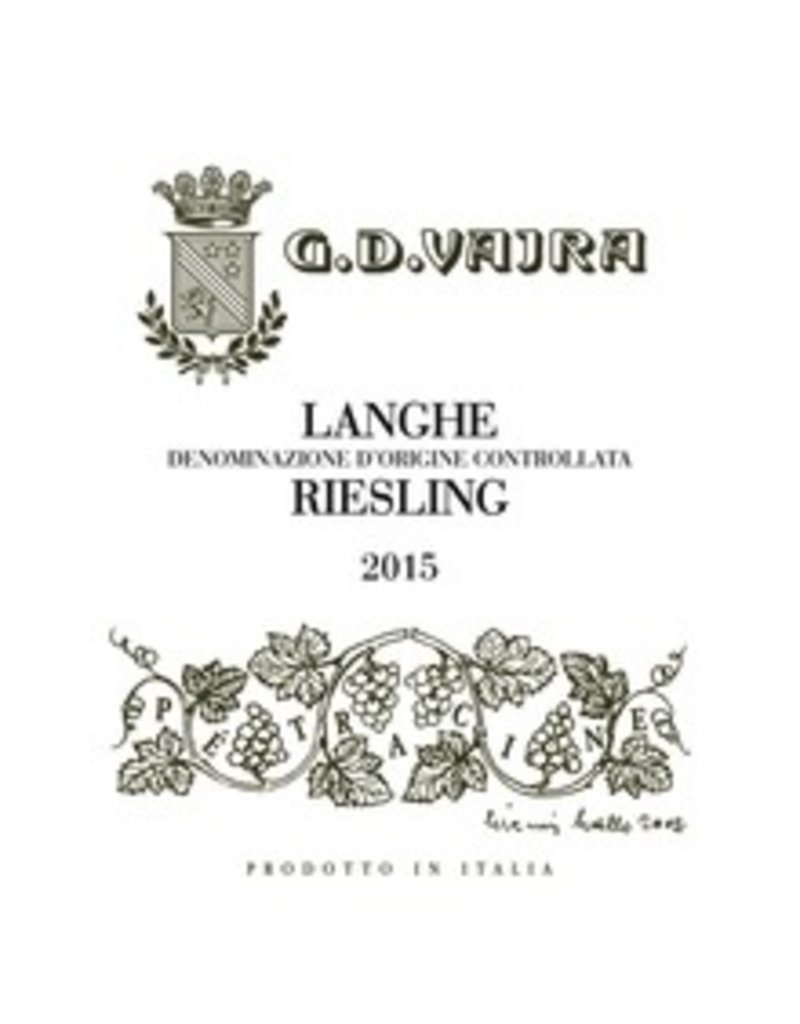 2015 G.D. Vajra Langhe Riesling