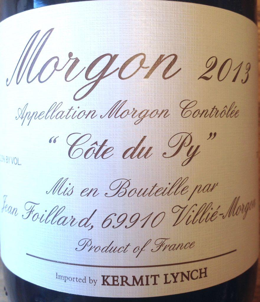 2016 Jean Foillard Morgon Cote du Py