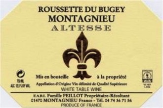 2016 Franck Peillot Altesse de Savoie Montagnieu