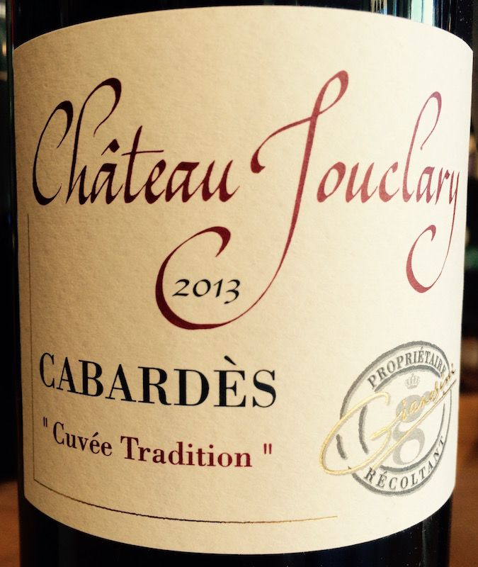 2014 Chateau Jouclary Cabardes Cuvee Tradition
