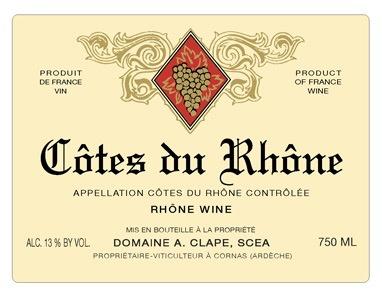 2016 A. Clape Cotes du Rhone