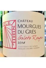 """2014 Mourgues du Gres Costieres de Nimes """"Galets Rouges"""""""