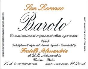 2013 Fratelli Alessandria Barolo San Lorenzo di Verduno