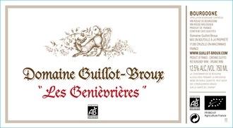 """2015 Guillot-Broux Macon Cruzille Rouge """"Les Genievrières"""""""