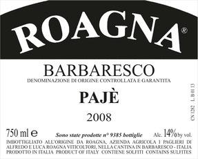 2012 Roagna Barbaresco Paje
