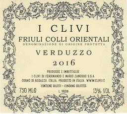 2016 I Clivi Verduzzo Friuli Colli Orientali