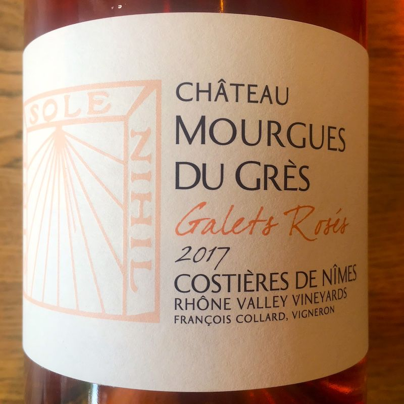 2017 Mourgues du Gres Costieres de Nimes Rose Galets Roses