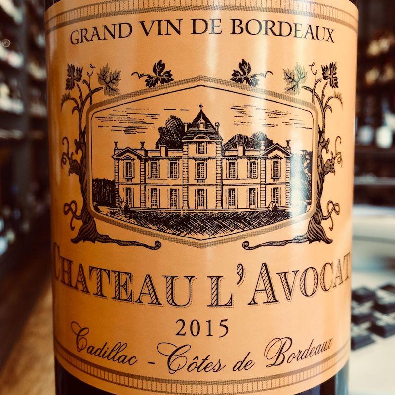 2015 Chateau l'Avocat Cadillac Cotes de Bordeaux