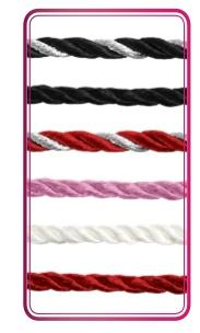 GemDrops Red & Silver SIlk Cord