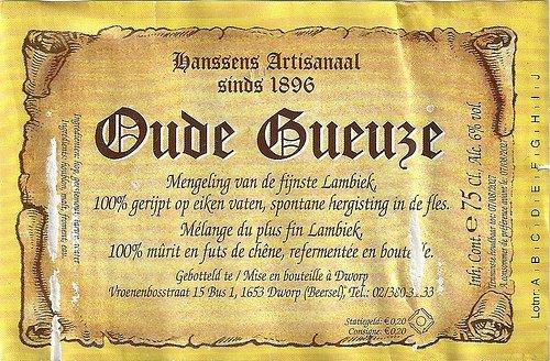 Hanssens 'Oude Gueze' 750ml