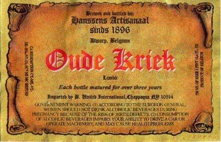Hanssens 'Oude Kriek' 750ml