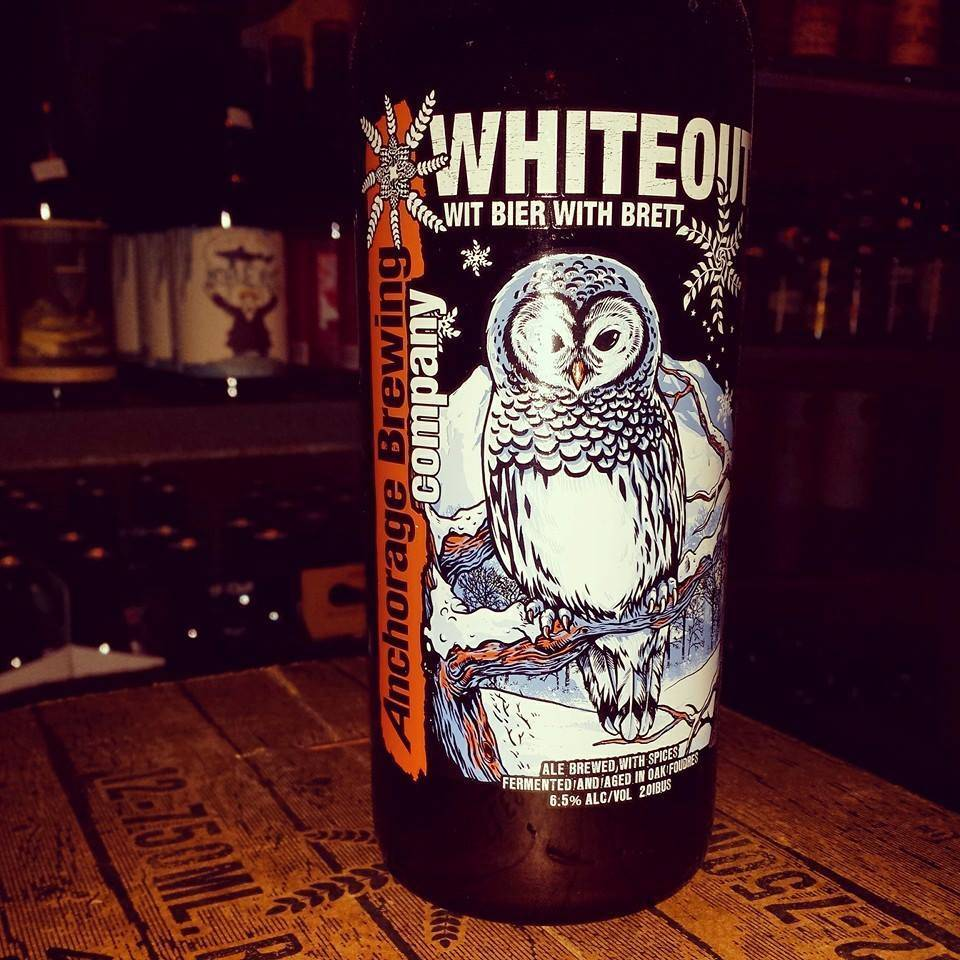 Anchorage Brewing Co. Whiteout' Witbier with Brett 750ml