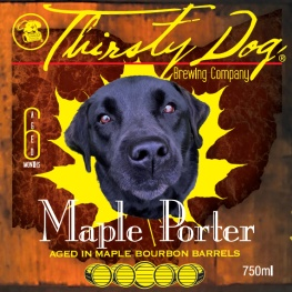 Thirsty Dog 'Maple Porter aged in Bourbon Barrels' 750ml