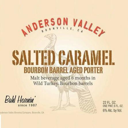 Anderson Valley Anderson Valley 'Salted Caramel' Bourbon Barrel Aged Porter 22oz