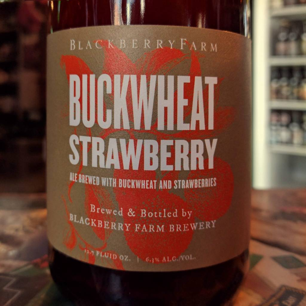 Blackberry Farm Brewery 'Buckwheat Strawberry' Wild Farmhouse Ale 375ml