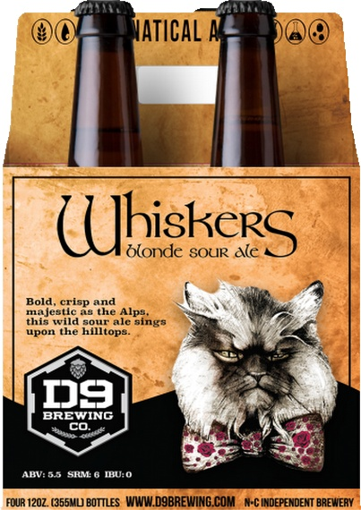 D9 Brewing Co. 'Whiskers on Kittens' Blonde Sour Ale 12oz Sgl