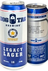 Dog Tag Dog Tag Brewing 'Legacy Lager' Can 16oz - Case (Box of 24)