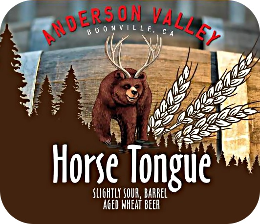 Anderson Valley Anderson Valley 'Horse Tongue' Barrel Aged Sour Wheat Ale 22oz