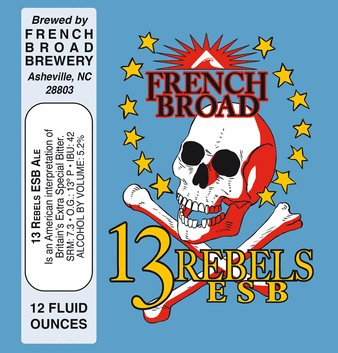 French Broad '13 Rebels' ESB 12oz Sgl (Can)